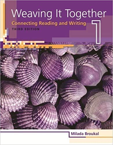 Book Weaving It Together 1: Connecting Reading and Writing (Weaving it Together: Connecting Reading and Writing) 3rd edition by Broukal, Milada (2009)