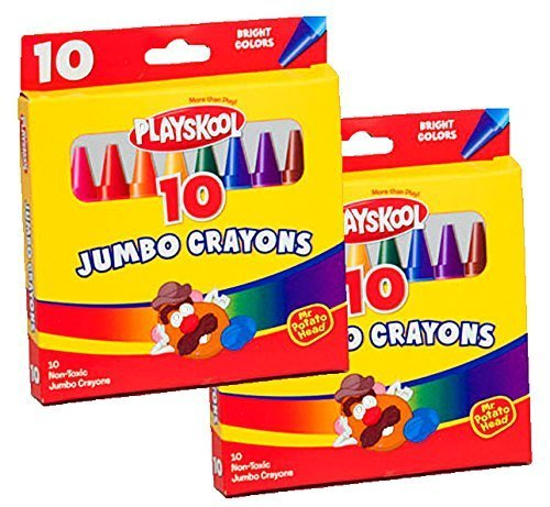 (Playskool Jumbo Crayons 10 Count (2 Packs))