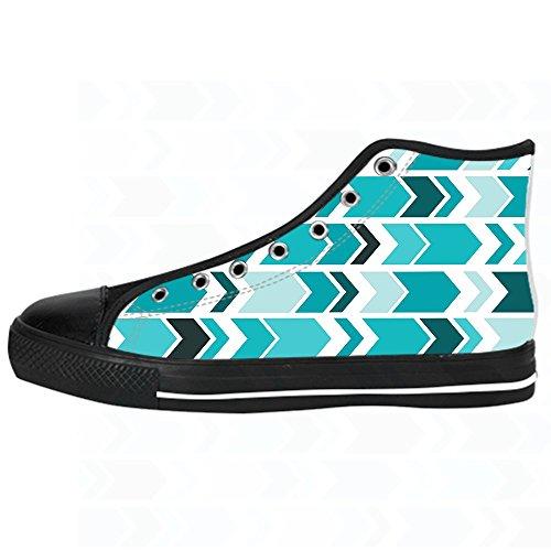 Custom freccia schema Mens Canvas shoes I lacci delle scarpe in Alto sopra le scarpe da ginnastica di scarpe scarpe di Tela.
