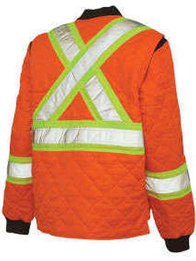 Work King Safety Mens Hi Vis Quilted Safety Jacket S432