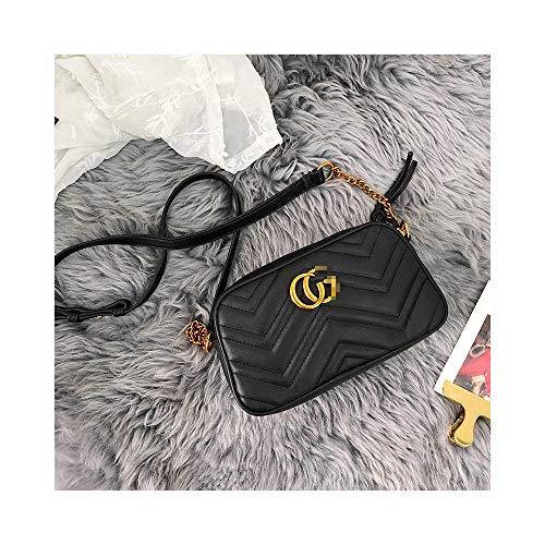 PU Matelassé Mini Bag PU Leahter Elegant Quilted Shoulder Bag Stylish Crossbody Bag Square Tote Bag-Mini Black Black