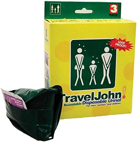 Unisex Disposable//Resealable Urinals 3 pack 2 x Travel John