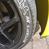 Tire Stickers Replacements - Tire Lettering Add-On Accessory - DIY