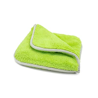 "[Double Flip] Microfiber Rinseless Wash Towel 8""x8"" Blue - 3 Pack (Green): Automotive"