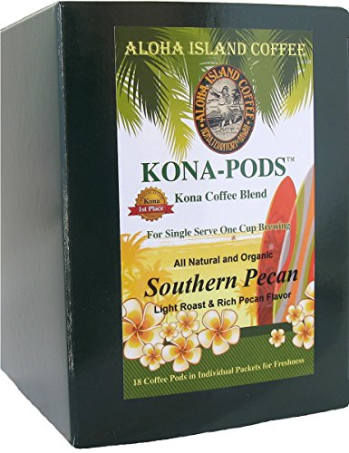 Senseo Pods of Southern Pecan Flavored Kona Blend Coffee, 18 Pods, Reusable Pod Adapter is Available for Keurig K-cup Brewing Systems