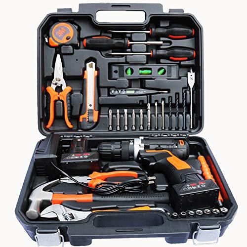 Batería de litio kit de herramientas de perforación,perfecto para tareas dentro y alrededor de la casa garaje taller de...