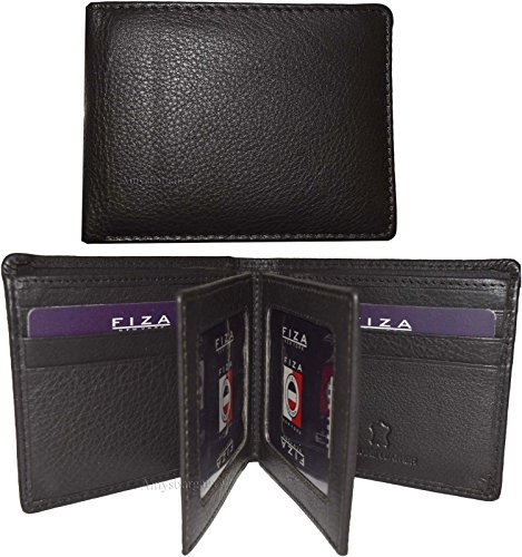 Men's ID Card FIZA 2 of NWT New Lot 9 Wallet NY 3 Bifold Brown Billfold Leather waf06qg