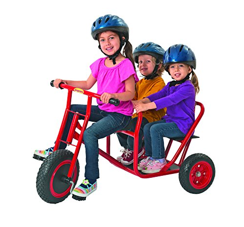 Angeles ClassicRider Tandem Taxi Trikefor Kids, Red–Tandem TricycleSuitable for Ages 3+ –Encourages Active Play…