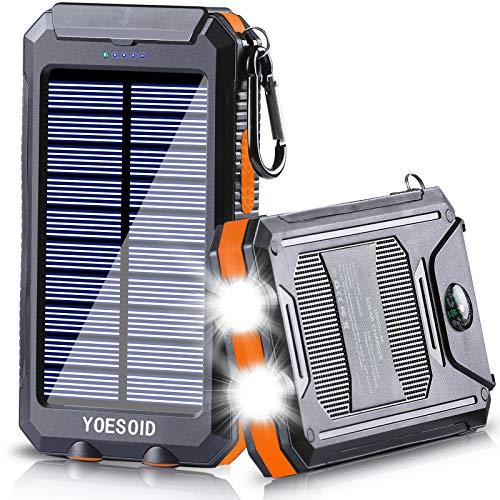 Solar Charger 20000mAh YOESOID Portable 20000mAh-Orange, 20000mAh-Orange