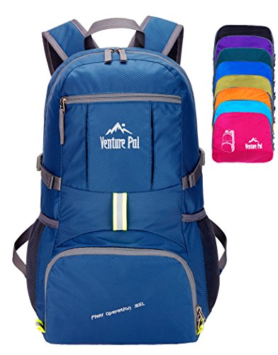 Price comparison product image Venture Pal Lightweight Packable Durable Travel Hiking Backpack Daypack-Navy Blue