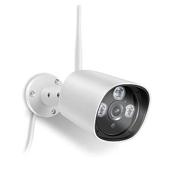 optjoy 1080P Vigilancia Cámara IP para exterior, IP66 resistente al agua, alcance NCM621 W
