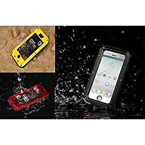 Metal and Silicone Waterproof Dustproof Quakeproof Case for iPhone 6 (Assorted Colors) , Red
