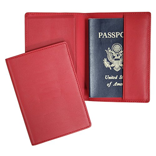 Royce Leather Plain Passport Jacket (Red) by Royce Leather
