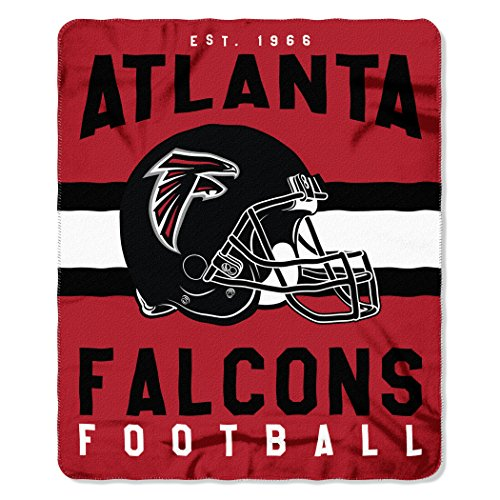 The Northwest Company NFL Atlanta Falcons Singular Printed Fleece Throw, Red, 50