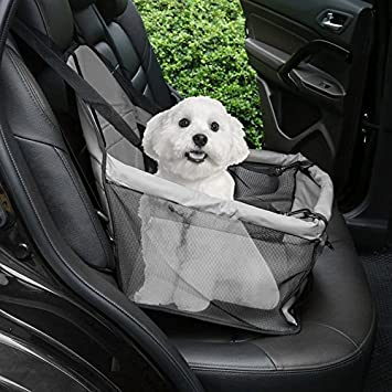 Portable Dog Car Seat Belt Booster Soft Oxford Travel Bags Folding Pet Carrier Comfortable Breathable
