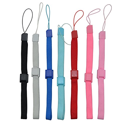 Cinpel Pack of 7 Colours Remote Controller Hand Wrist Strap for Nintendo Wii