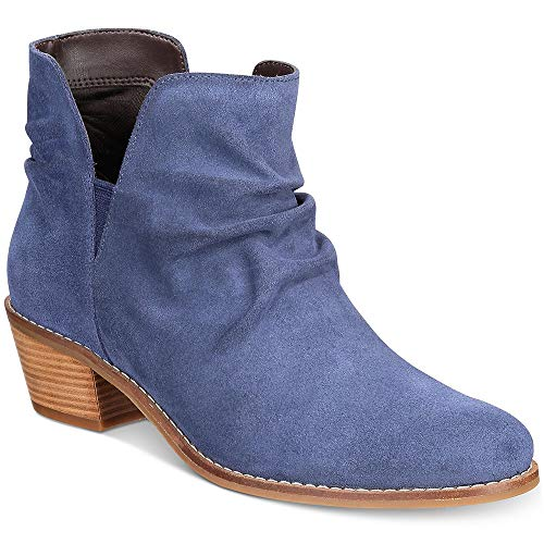Cole Haan Women's Alayna Slouch Bootie Ankle Boot, Marine Blue Suede, 8.5 B US