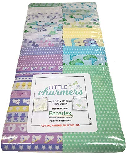 Little Charmers Strip-Pies 40 2.5-inch Strips Jelly Roll Benartex, Assorted]()