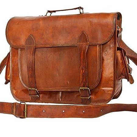 Messenger of Leather, Sac bandoulière  marron marron 12' x 16' x 5'