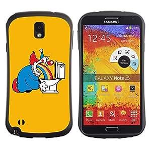 Hybrid Anti-Shock Bumper Case for Samsung Galaxy Note 3 / Clow & Rainbow