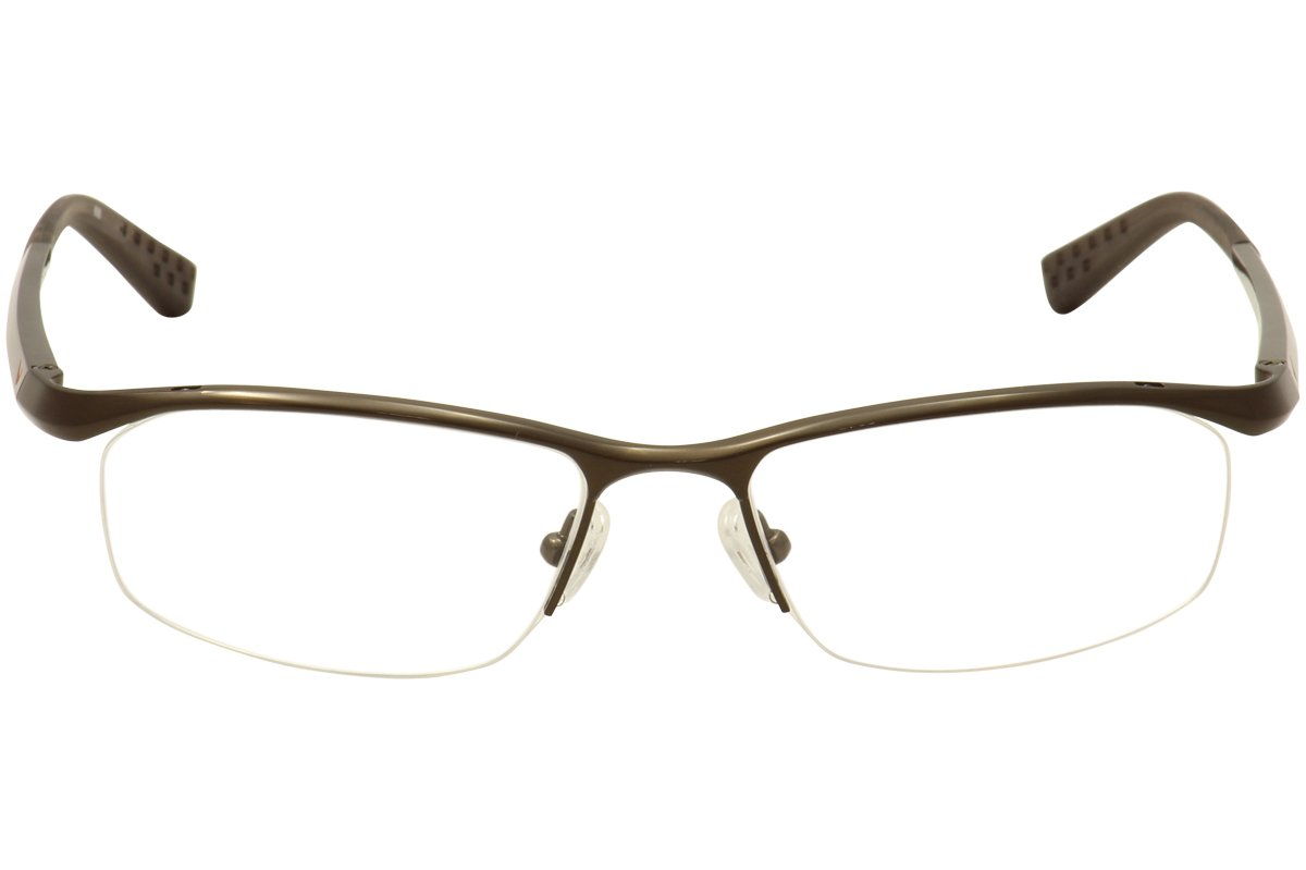 016701a6e782 Amazon.com: Nike Eyeglasses 6037 045 Steel Demo 53 17 135: Health &  Personal Care