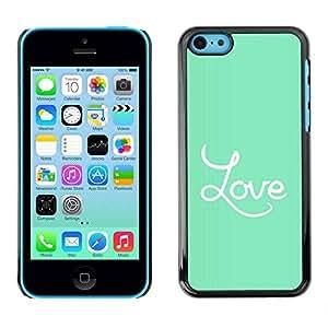 Paccase / SLIM PC / Aliminium Casa Carcasa Funda Case Cover - Green Text Valentines Couple Darling - Apple Iphone 5C