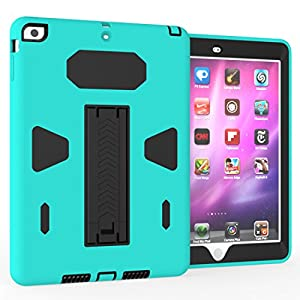 Solobay Case ipad 5/AIR Shockproof with Kickstand 2 in 1 ipad 5/AIR Rubber Child Proof Tablet Case Cover For ipad 5/AIR Heavy Duty Tough Rugged Hybrid Stand Shockproof Case