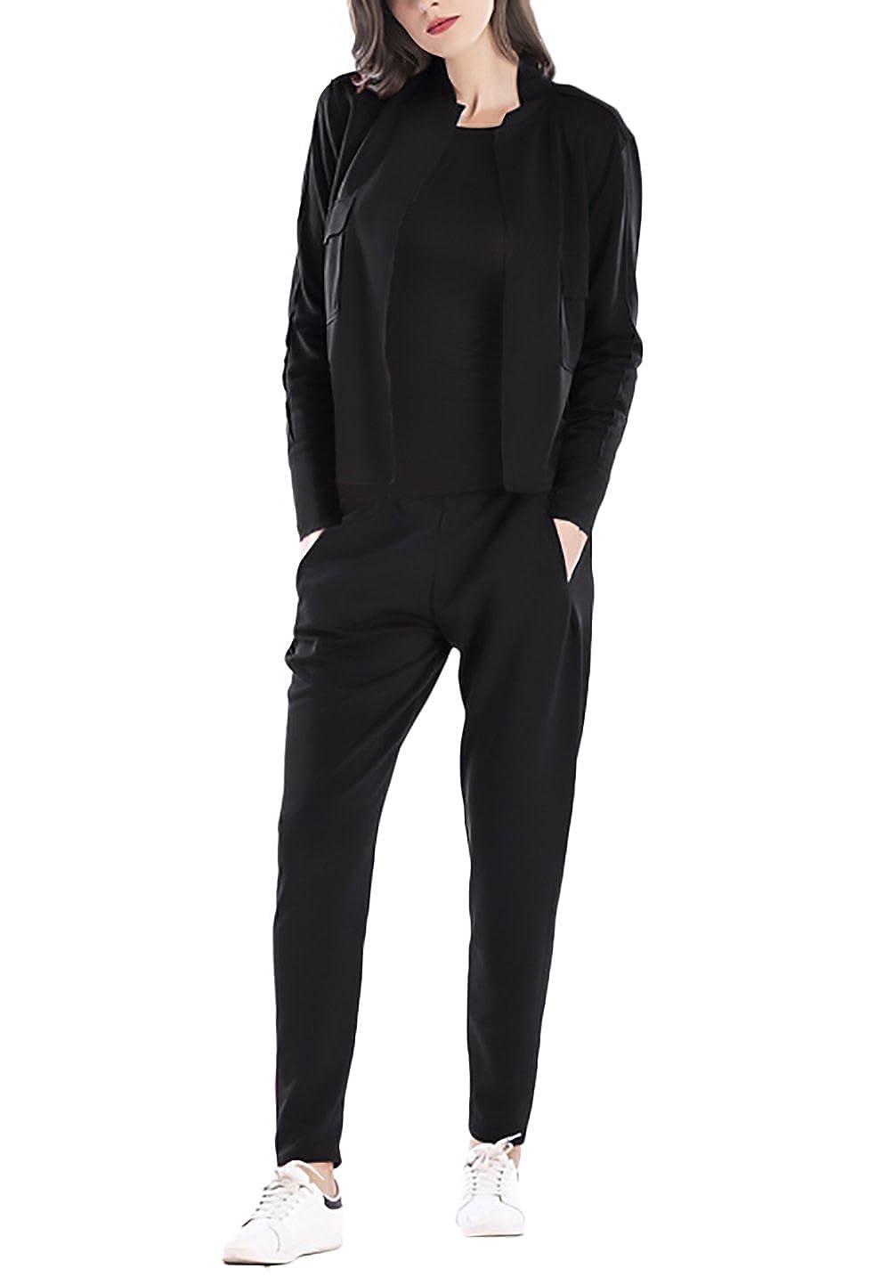Donna Giacca Und Pantaloni 2 Pezzi Tuta Manica Lunga Slim Fit Elegante Vintage Fashion Casual Autunno Inverno Sportivo Set Giacche Blazer Bolero Outwear Pantalone Trousers HX fashion