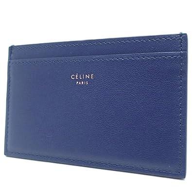 67624d3b4b3f Amazon | CELINE(セリーヌ) カードケース パスケース 小物 ラムスキン ブルー 青 100123  18020814【中古】【アラモード】 1812SS | CELINE(セリーヌ)
