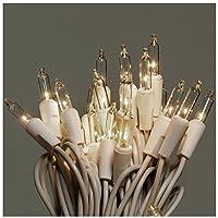 Juego de luces transparentes de 100 cuentas Noma /Inliten, cable blanco