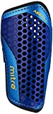 Mitre Aircell Carbon Slip Football Shin Pads, Blue/Cyan/Yellow, Medium