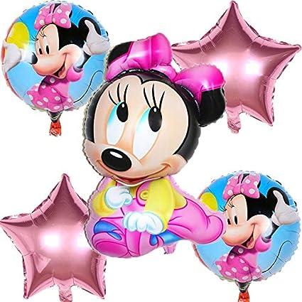 BAYUE Globos 5pcs / Set Cute Mickey y Minnie Star Heart ...