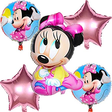 AWEIE 5pcs / Set Cute Mickey y Minnie Star Heart Globos de ...