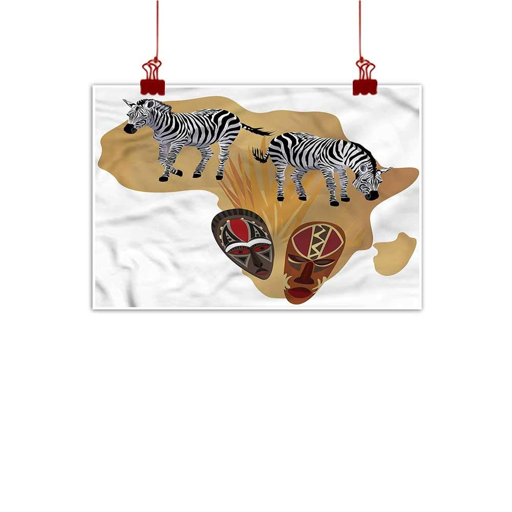 color08 24 x20  (60cm x 50cm) Mangooly Fabric Cloth Rolled Safari,Sunset in Safari Animal for Bathroom Bedroom Pictures