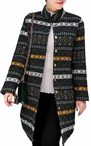 Thin TTYLLMAO Stand Cotton Lightweight 2 Winter Womens Jacket Collar Long Padded nBWRrxnwZ