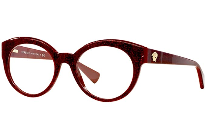 bb25bb93ce6b Image Unavailable. Image not available for. Colour  Eyeglasses Versace VE  3217 5158 GLITTER RED RED