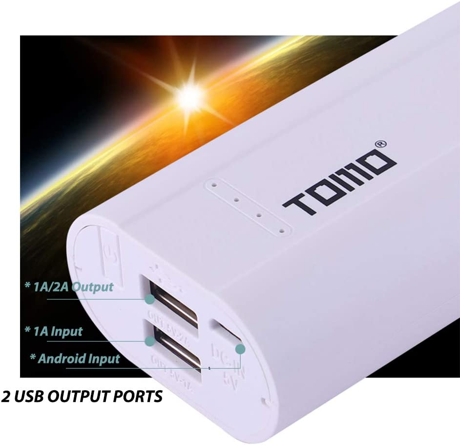 Festnight TOMO P2 Charger for Charging 2 x 18650 Li-ion Universal Battery Power Bank DIY Smart Portable Battery USB Charger with LCD Display Screen Dual Output