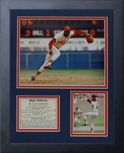 """Legenden Sterben Nie """"Bob Gibson"""" Vertikal gerahmtes Foto Collage, 11 x 35,6 cm von Legends Never Die"""