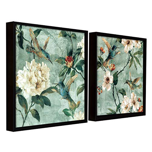 Painting Mantra Floral Canvas Painting for Wall with Frame Black, Bird Floral Painting for Living Room Size : 13×13…