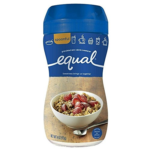 Equal 0 Calorie Sweetener, Granulated 4 oz (Pack of 2)