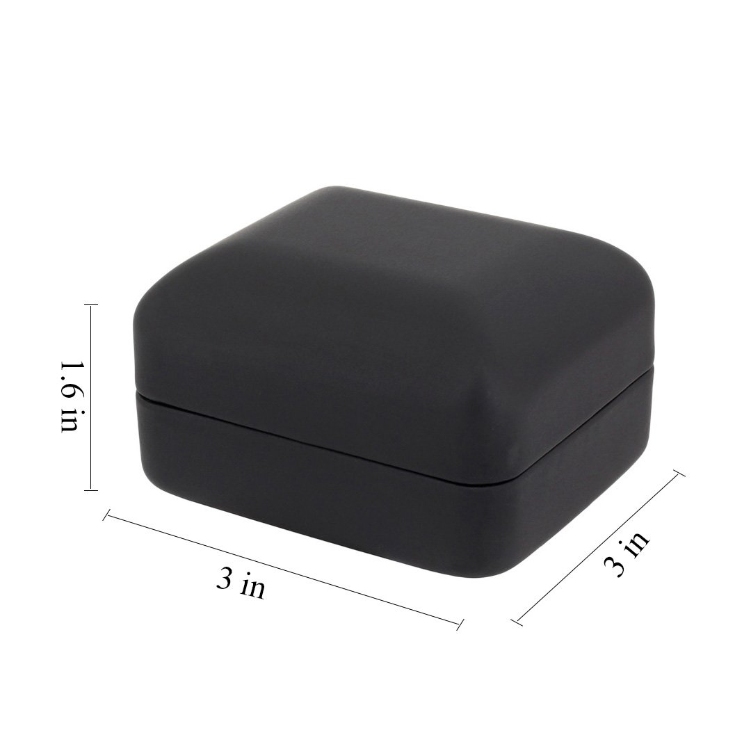 Naimo Velvet Engagement Ring LED Light Jewelry Gift Box (Black) by Naimo (Image #6)