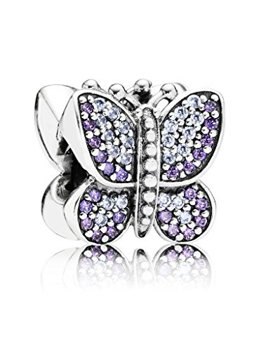 Butterfly Charm Beautiful - Sparkling Sparkling Butterfly with Australian Crystals Charm 925 Sterling Silver Bead for European Compatible Brand Bracelet