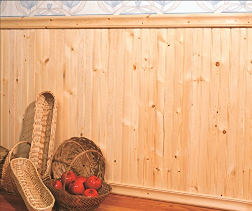 (Allwood Beaded Knotty Pine Wainscot Kit, 48 Lineal Feet of wall)