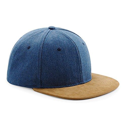 (Beechfield Unisex Faux Suede Peak Snapback Cap (One Size) (Vintage Black))