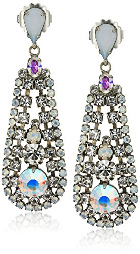 Sorrelli White Bridal In The Loop Drop Earrings - Sorrelli White Earrings