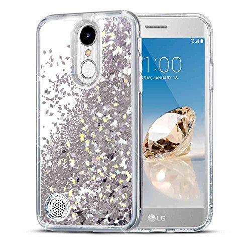 LG K20 Plus Case, LG K20 V Case, LG Harmony Case, SuperbBeast Fashion Bling Liquid Floating Glitter Sparkle Girly Clear TPU Bumper Case for Girls Women Children LG LV5 (Not Fit LG K10 2016) (Verizon Lg Phone Cases For Girls)