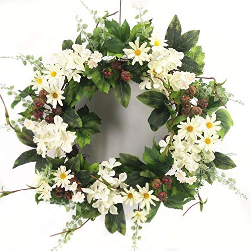 - Wreath For Door Signs Of Summer Front Door Wreath Black Raspberry White Hydrangea Daisy Wreath Indoor Outdoor Year Round Everyday Decoration Kitchen Dining Area Traditional To Farmhouse Decor 22 Inch