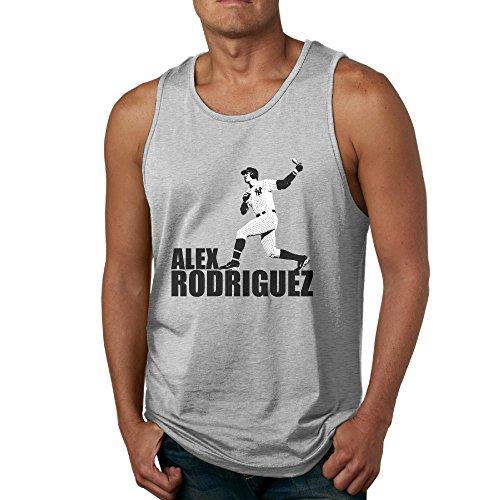 Alex Rodriguez POY-SAIN Men's Adults Tank Top Shirt SizeXL Ash