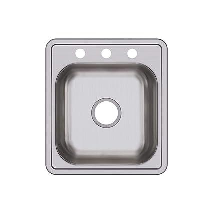 Elkay D117193 Dayton Single Bowl Drop In Stainless Steel Bar Sink      Amazon.com