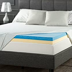Zinus 4 Inch Gel Memory Foam Mattress Topper, Queen
